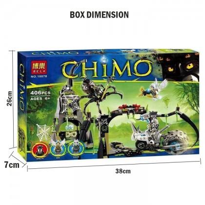 Bela No.10078 CHIMO 406 Pcs Building Blocks Eris Rogon Spinlyn Cobwebs Car Bricks Toy
