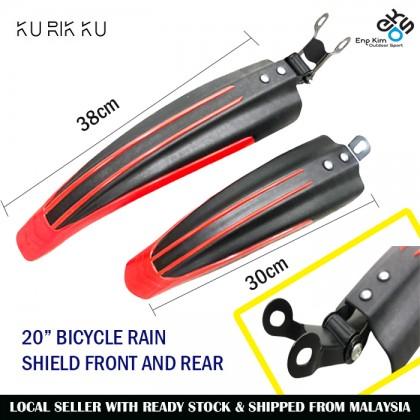"""20"""" Bicycle Rain Shield Front and Rear Adjustable Basikal Mangat Depan & Belakang"""