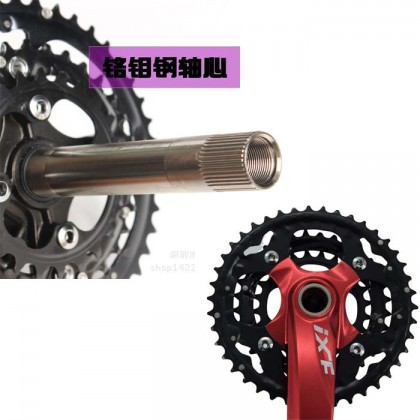 27-30 Speed IXF Alloy Hollow II IXF Mountain Bike Crankset with Central Axis Seal Bearing 24/32/42T