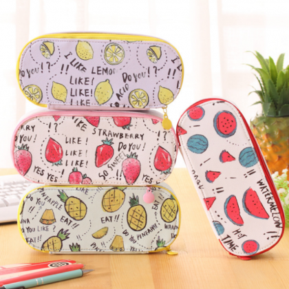 Korea Design Large Capacity Fruits Pencil Case/ Storage Case