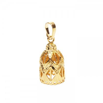 24K Gold Twinkle Bell Necklace Pendant