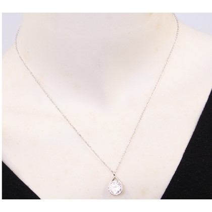 Anger's Tear Silver Necklaces
