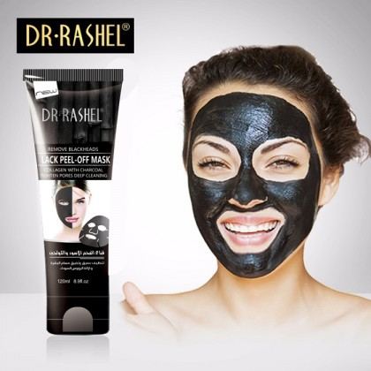 DR-RASHEL Blackhead Remover Black Peel Off Facial Mask Deep Cleaning Acne 120ML
